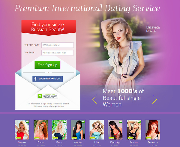 Premium international dating service
